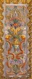 Rzym - fresk Groteskowego renaissance pędna boczna kaplica w kościół w bazylice Di Sant Agostino (Augustine) Obrazy Stock