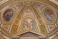 Rzym - fresk w apsydzie boczna kaplica st Joseph w bazylice Di Sant Agostino (Augustine) Zdjęcie Royalty Free
