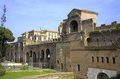 Rzym Italy piazza San Giovanni rujnuje dawność Zdjęcie Royalty Free