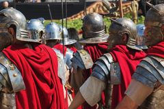 Rzym/Italy/04/22/2018 Rzym podstawy rocznica rzymscy żołnierze zdjęcia stock