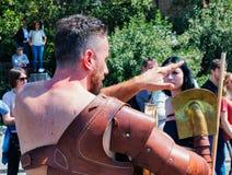 Rzym/Italy/04/22/2018-Rome fundacyjna rocznica, gladiatorów clos Zdjęcie Royalty Free