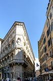 Rzym, Lazio, Włochy Lipiec 25, 2017: Fasada dom w Plaz Zdjęcia Royalty Free