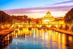 Rzym linia horyzontu Obrazy Stock