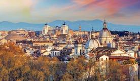 Rzym - linia horyzontu, Włochy Fotografia Royalty Free