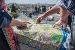 Rzym mapa fotografia stock