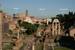 Rzym mapa Zdjęcie Royalty Free
