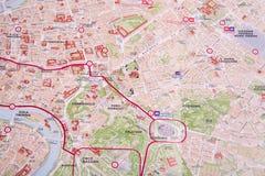 Rzym mapa Obraz Royalty Free