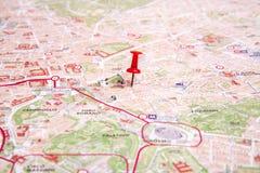 Rzym mapa Obrazy Royalty Free