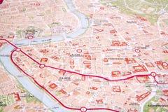 Rzym mapa Zdjęcie Stock