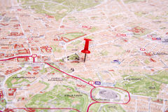 Rzym mapa Fotografia Royalty Free