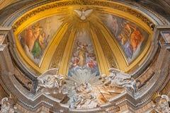 Rzym - marmurowa rzeźba bóg ojciec w Thomas Villanova boczna kaplica w bazylice Di Sant Agostino (Augustine) Fotografia Stock