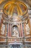 Rzym - marmurowa rzeźba St Thomas Villanova w bazylice Di Sant Agostino (Augustine) Zdjęcia Royalty Free