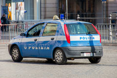Rzym, MARZEC - 21, 2014: Samochód Policyjny na Marzec 21 wewnątrz Obrazy Royalty Free