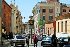 Rzym miasta życie Widok Rzym miasto na Czerwu 1, 2014 Fotografia Stock