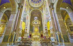 Rzym - nave kościelny Chiesa Di Sant Agostino (Augustine) Zdjęcia Stock