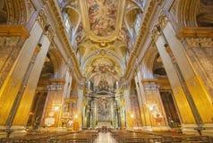 Rzym - nave w kościelnym bazyliki dei Santi XII Apostoli Obraz Royalty Free
