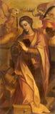 Rzym - obraz st Katherine wewnątrz w bazylice Di Sant Agostino (Augustine) Zdjęcia Royalty Free