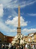 Rzym piazza Navona szczegóły Cztery Rzecznej fontanny zdjęcia royalty free
