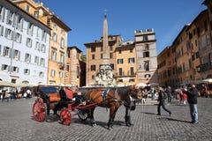 Rzym - piazza Rotonda Fotografia Royalty Free