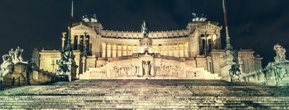 Rzym, piazza Venezia, ołtarz Fatherland (Vittoriano) Zdjęcie Stock