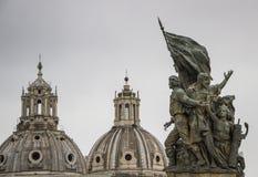 Rzym, statua w piazza Venezia Zdjęcia Royalty Free