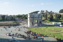Rzym Włochy, Luty, - 23, 2019: Łuk Constantine w Rzym obraz stock