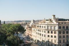 Rzym Włochy, Luty, - 23, 2019: Pejzażu miejskiego widok z lotu ptaka Romański getto zdjęcia royalty free