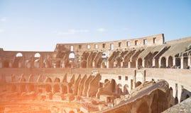Rzym Włochy, Luty, - 23, 2019: Wnętrze Colosseum kolosseum lub, Rzym, Włochy zdjęcie stock