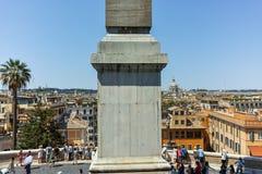 RZYM WŁOCHY, CZERWIEC, - 22, 2017: Odgórny widok hiszpańszczyzna kroki Di Spagna w mieście Rzym i piazza Zdjęcie Stock