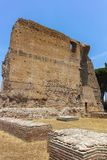 RZYM WŁOCHY, CZERWIEC, - 24, 2017: Panoramiczny widok ruiny w palatynu wzgórzu w mieście Rzym Obraz Royalty Free
