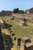 RZYM WŁOCHY, CZERWIEC, - 24, 2017: Panoramiczny widok ruiny w palatynu wzgórzu w mieście Rzym Zdjęcia Stock