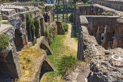 RZYM WŁOCHY, CZERWIEC, - 24, 2017: Panoramiczny widok ruiny w palatynu wzgórzu w mieście Rzym Obrazy Royalty Free