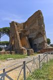 RZYM WŁOCHY, CZERWIEC, - 24, 2017: Panoramiczny widok ruiny w palatynu wzgórzu w mieście Rzym Zdjęcie Stock