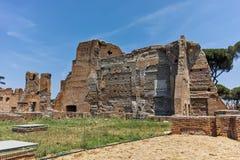 RZYM WŁOCHY, CZERWIEC, - 24, 2017: Panoramiczny widok ruiny w palatynu wzgórzu w mieście Rzym Obrazy Stock