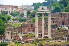 Rzym WŁOCHY, CZERWIEC, - 01: Romańskie forum ruiny w Rzym, Włochy na Czerwu 01, 2016 Fotografia Stock