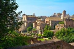 Rzym WŁOCHY, CZERWIEC, - 01: Romańskie forum ruiny w Rzym, Włochy na Czerwu 01, 2016 Zdjęcia Royalty Free