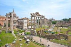 Rzym WŁOCHY, CZERWIEC, - 01: Romańskie forum ruiny w Rzym, Włochy na Czerwu 01, 2016 Zdjęcia Stock