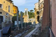 RZYM WŁOCHY, CZERWIEC, - 22, 2017: Ruiny Marcello teatr w mieście Rzym Obraz Royalty Free