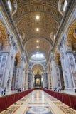 Rzym WŁOCHY, CZERWIEC, - 01: St Peter bazylika w Watykan, Rzym, Włochy na Czerwu 01, 2016 Obrazy Stock