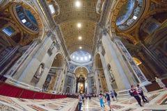 Rzym WŁOCHY, CZERWIEC, - 01: St Peter bazylika w Watykan, Rzym, Włochy na Czerwu 01, 2016 Obrazy Royalty Free