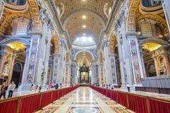 Rzym WŁOCHY, CZERWIEC, - 01: St Peter bazylika w Watykan, Rzym, Włochy na Czerwu 01, 2016 Obraz Stock