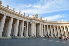 Rzym WŁOCHY, CZERWIEC, - 01: St Peter kwadrat w Watykan, Rzym, Włochy na Czerwu 01, 2016 Obrazy Stock