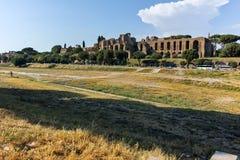 RZYM WŁOCHY, CZERWIEC, - 22, 2017: Zadziwiający panoramiczny widok Cyrkowy Maximus w mieście Rzym Obrazy Royalty Free