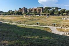 RZYM WŁOCHY, CZERWIEC, - 22, 2017: Zadziwiający panoramiczny widok Cyrkowy Maximus w mieście Rzym Obraz Stock