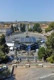 RZYM WŁOCHY, CZERWIEC, - 22, 2017: Zadziwiający Panoramiczny widok piazza Del Popolo w mieście Rzym Obraz Stock