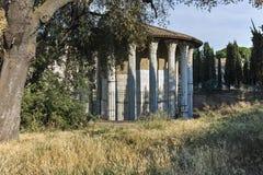RZYM WŁOCHY, CZERWIEC, - 22, 2017: Zadziwiający widok świątynia Hercules zwycięzca w mieście Rzym Obrazy Stock
