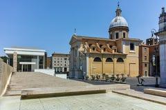 RZYM WŁOCHY, CZERWIEC, - 22, 2017: Zadziwiający widok Chiesa Di San Rocco wszystkie Augusteo w Rzym Obrazy Royalty Free