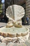 RZYM WŁOCHY, CZERWIEC, - 22, 2017: Zadziwiający widok Fontana delle Api przy piazza Barberini w Rzym Obraz Royalty Free
