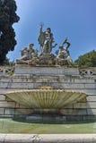 RZYM WŁOCHY, CZERWIEC, - 22, 2017: Zadziwiający widok fontanna Neptune przy piazza Del Popolo w mieście Rzym Obraz Royalty Free