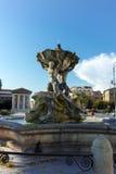 RZYM WŁOCHY, CZERWIEC, - 22, 2017: Zadziwiający widok fontanna Tritons w mieście Rzym, Obrazy Stock